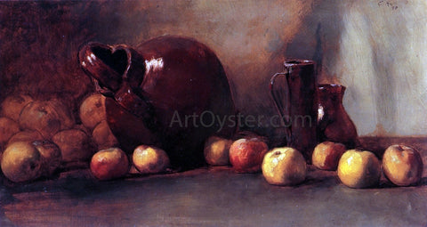Guy Orlando Rose Still LIfe: Jug with Fruit - Hand Painted Oil Painting