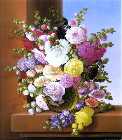 Adelheid Dietrich Still Life of Flowers - Hand Painted Oil Painting