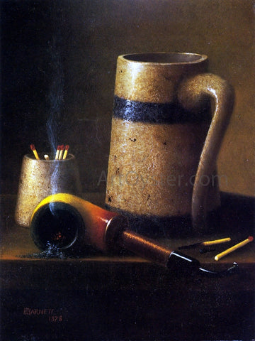 William Michael Harnett Still Life, Pipe and Mug - Hand Painted Oil Painting