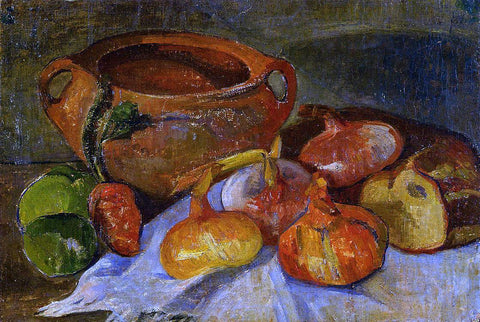 Jacob De Haan Still Life: Pit, Onions, Bread and Green Apples - Hand Painted Oil Painting