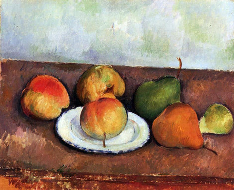 Paul Cezanne Still Life - Plate and Fruit - Hand Painted Oil Painting