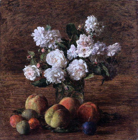 Henri Fantin-Latour Still Life: Roses and Fruit - Hand Painted Oil Painting