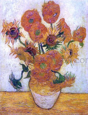 Vincent Van Gogh A Still Life: Vase with Fourteen Sunflowers - Hand Painted Oil Painting