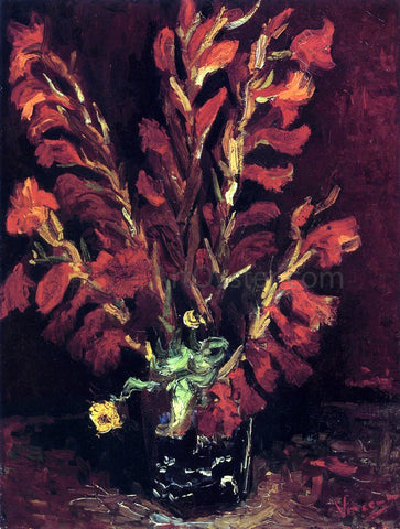 Vincent Van Gogh Still Life: Vase with Gladiolas - Hand Painted Oil Painting