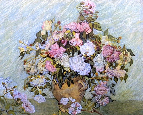 Vincent Van Gogh Still Life: Vase with Roses - Hand Painted Oil Painting