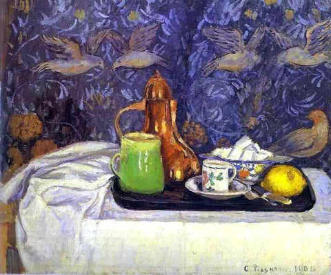 Camille Pissarro Still Life with a Coffee Pot - Hand Painted Oil Painting