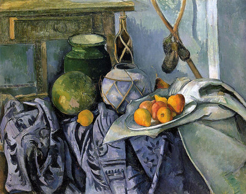 Paul Cezanne Still Life with a Ginger Jar and Eggplants - Hand Painted Oil Painting