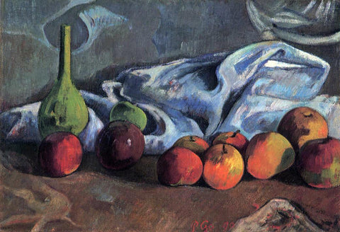 Paul Gauguin Still Life with Apples and Green Vase - Hand Painted Oil Painting