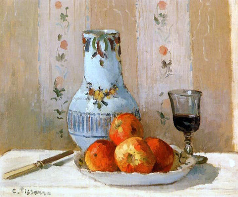 Camille Pissarro Still Life with Apples and Pitcher - Hand Painted Oil Painting