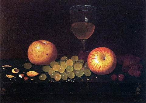 William Michael Harnett Still Life with Apples, Grapes and Almonds - Hand Painted Oil Painting