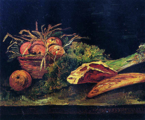 Vincent Van Gogh Still Life with Apples, Meat and a Roll - Hand Painted Oil Painting