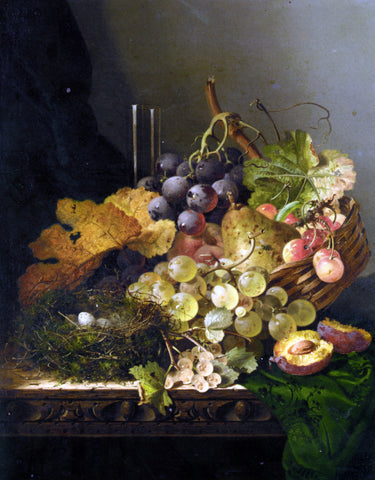 Edward Ladell Still Life with Birds Nest - Hand Painted Oil Painting