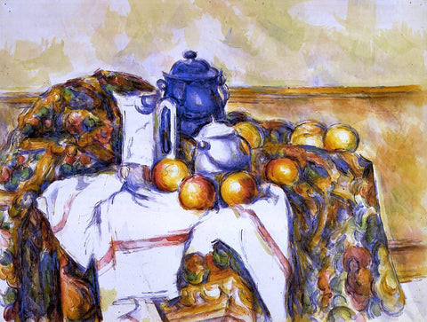 Paul Cezanne Still Life with Blue Pot - Hand Painted Oil Painting