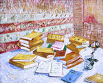 "Vincent Van Gogh Still Life with Books, ""Romans Parisiens"" - Hand Painted Oil Painting"