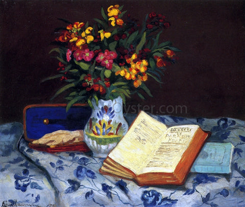 Armand Guillaumin Still Life with Box with Blue Gloves - Hand Painted Oil Painting