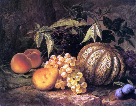 William Mason Brown Still Life with Cantaloupe - Hand Painted Oil Painting
