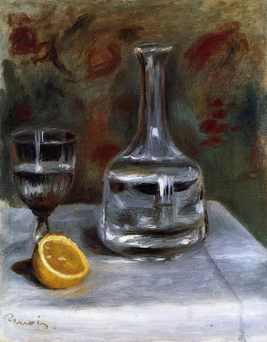Pierre Auguste Renoir Still Life with Carafe - Hand Painted Oil Painting