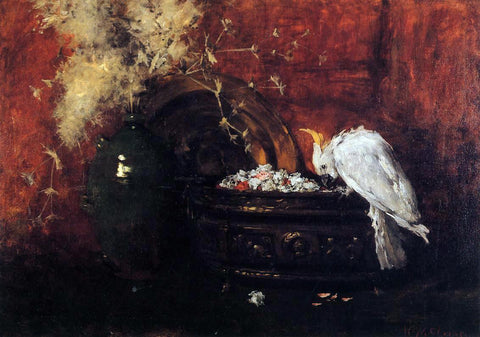 William Merritt Chase Still Life with Cockatoo - Hand Painted Oil Painting