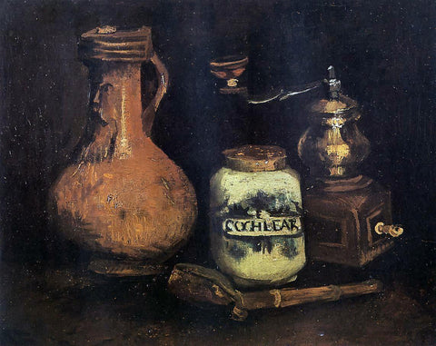 Vincent Van Gogh Still Life with Coffee Mill, Pipe Case and Jug - Hand Painted Oil Painting