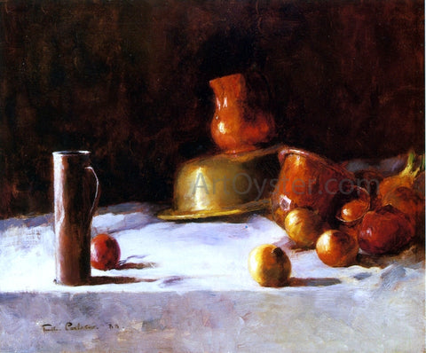 Emil Carlsen Still Life with Copper, Brass and Onions - Hand Painted Oil Painting
