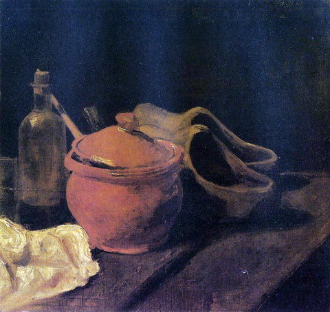 Vincent Van Gogh Still Life with Earthenware, Bottle and Clogs - Hand Painted Oil Painting