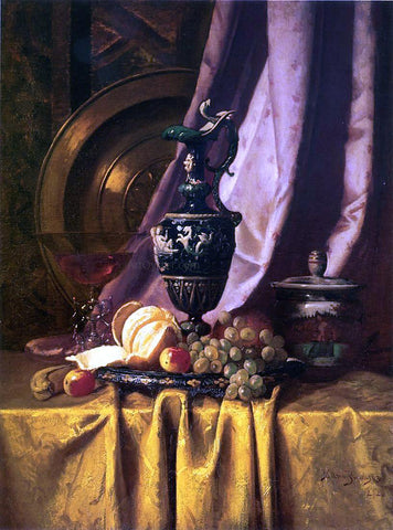 Milne Ramsey Still Life with Ewer and Fruit - Hand Painted Oil Painting