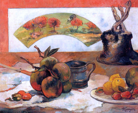 Paul Gauguin Still Life with Fan - Hand Painted Oil Painting