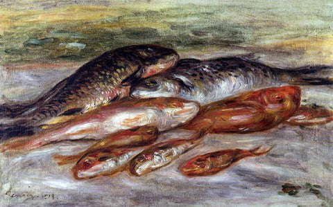 Pierre Auguste Renoir Still Life with Fish - Hand Painted Oil Painting