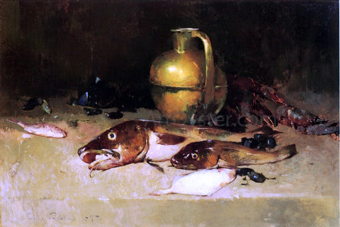 Emil Carlsen Still Life with Fish - Hand Painted Oil Painting
