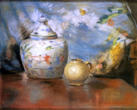 William Merritt Chase Still LIfe with Flowers - Hand Painted Oil Painting