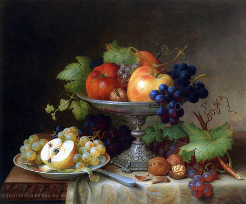 Helen Searle Still Life with Fruit - Hand Painted Oil Painting