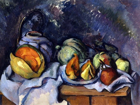 Paul Cezanne Still Life with Fruit and a Pot of Ginger - Hand Painted Oil Painting