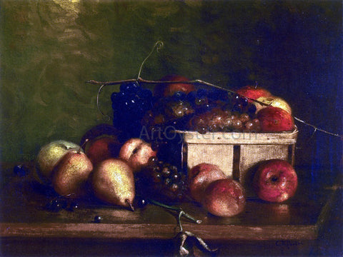 Charles Ethan Porter Still LIfe with Fruit and Basket - Hand Painted Oil Painting