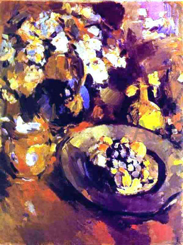 Constantin Alexeevich Korovin Still Life with Fruit and Bottle - Hand Painted Oil Painting