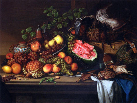 Joseph Biays Ord Still Life with Fruit and Game - Hand Painted Oil Painting