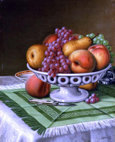 Levi Wells Prentice Still Life with Fruit and Pocket Knife - Hand Painted Oil Painting