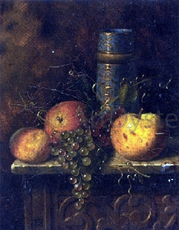 William Michael Harnett Still Life with Fruit and Vase - Hand Painted Oil Painting