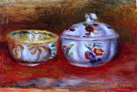 Pierre Auguste Renoir Still Life with Fruit Bowl - Hand Painted Oil Painting