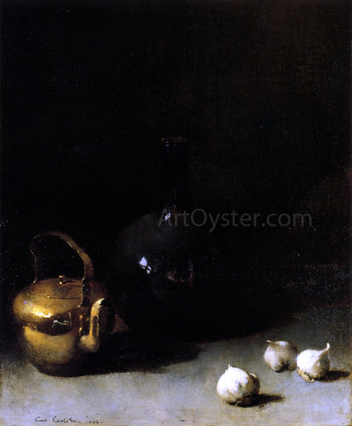Emil Carlsen Still LIfe with Garlic - Hand Painted Oil Painting