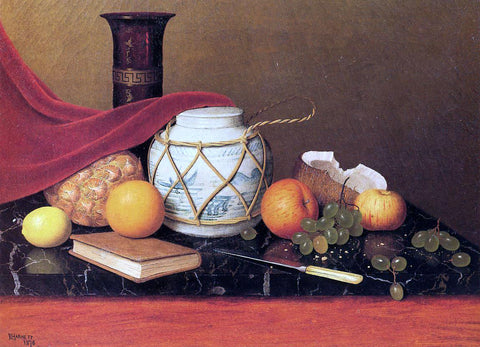 William Michael Harnett Still Life with Ginger Jar - Hand Painted Oil Painting