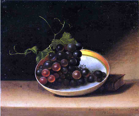 Raphaelle Peale Still Life with Grapes and Dish - Hand Painted Oil Painting