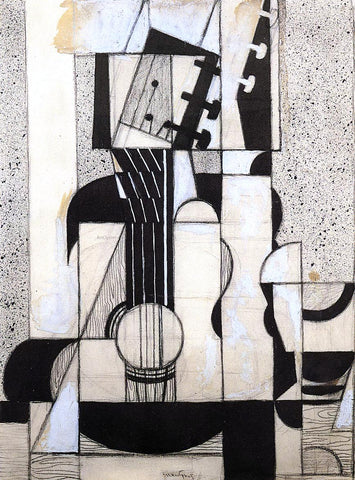 Juan Gris Still Life with Guitar - Hand Painted Oil Painting