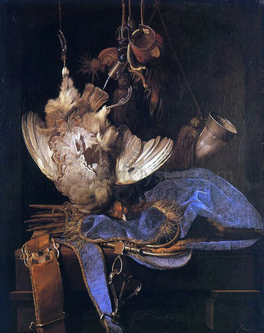 Willem Van Aelst Still Life with Hunting Equipment - Hand Painted Oil Painting