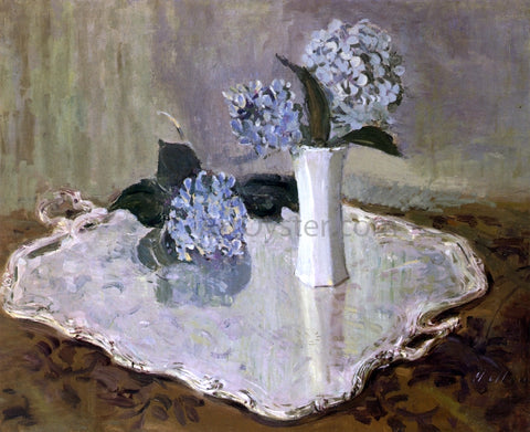 Paul Cesar Helleu Still Life with Hydrangias - Hand Painted Oil Painting