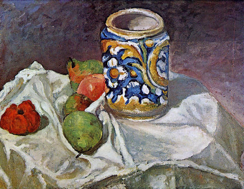 Paul Cezanne Still Life with Italian Earthenware - Hand Painted Oil Painting