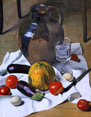 Felix Vallotton A Still Life with Large Earthenware Jug - Hand Painted Oil Painting