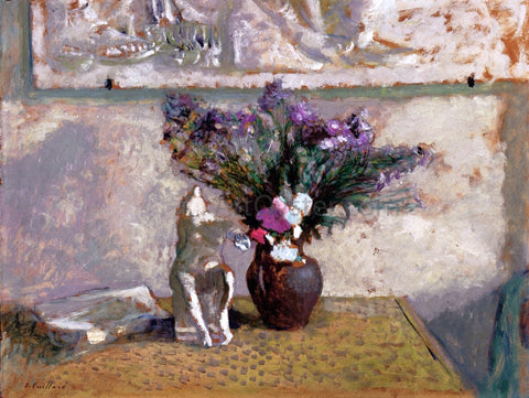 "Edouard Vuillard Still Life with ""Leda"" - Hand Painted Oil Painting"