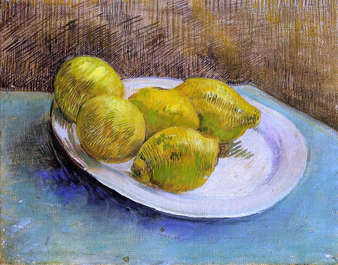 Vincent Van Gogh Still Life with Lemons on a Plate - Hand Painted Oil Painting