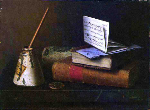 William Michael Harnett Still Life with Letter to Mr. Lask - Hand Painted Oil Painting