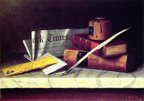William Michael Harnett Still Life with Letter to Thomas B. Clarke - Hand Painted Oil Painting
